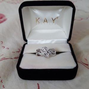 Kay Jewelers Sterling Silver Diamond Ring